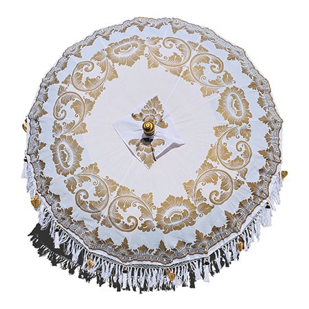 bali sun parasol white and gold full canopy
