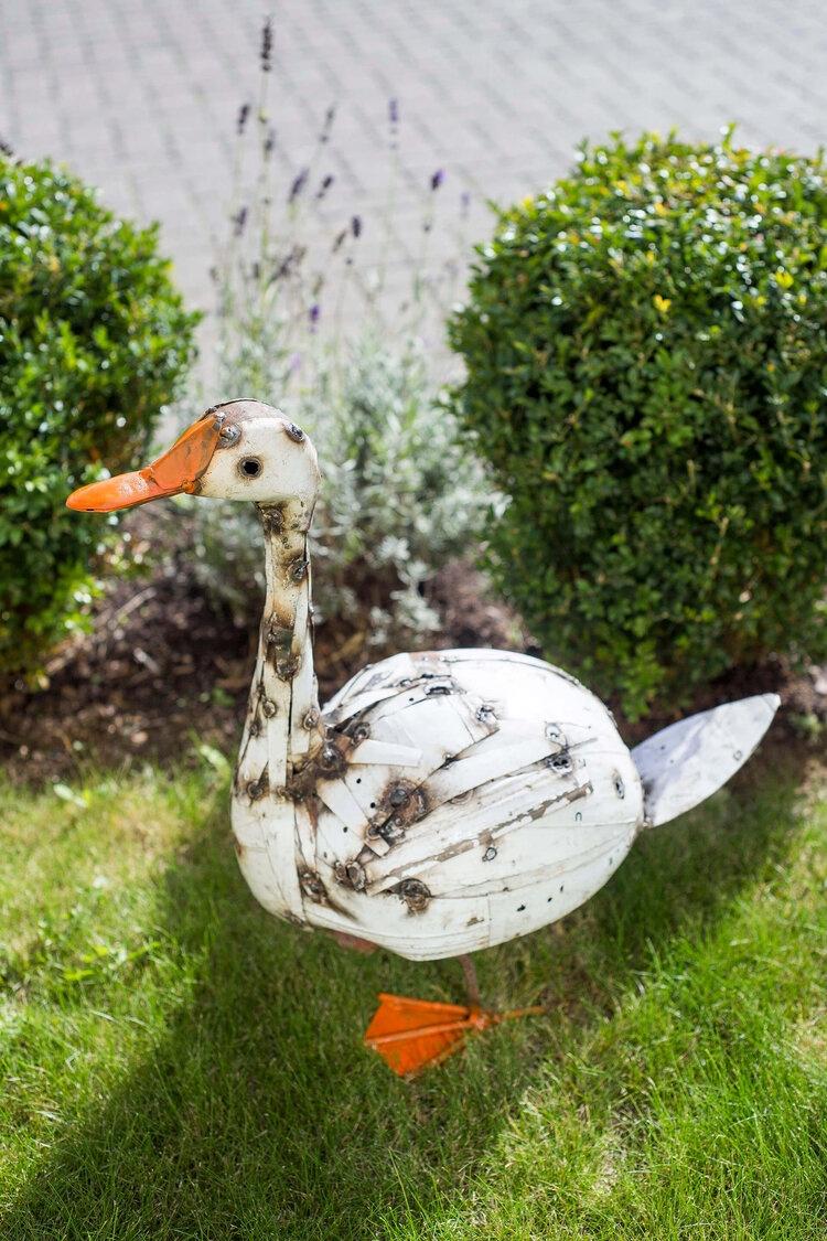 recycled metal bird Goose