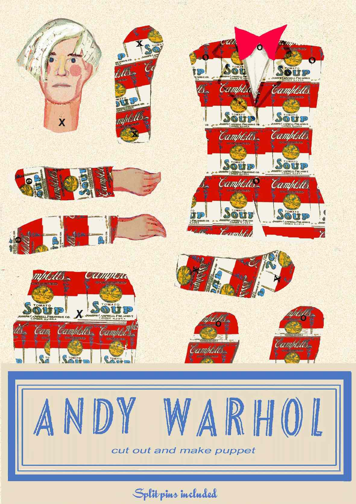 Cut Out Puppet of Andy Warhol