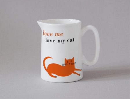 love me love my cat small jug