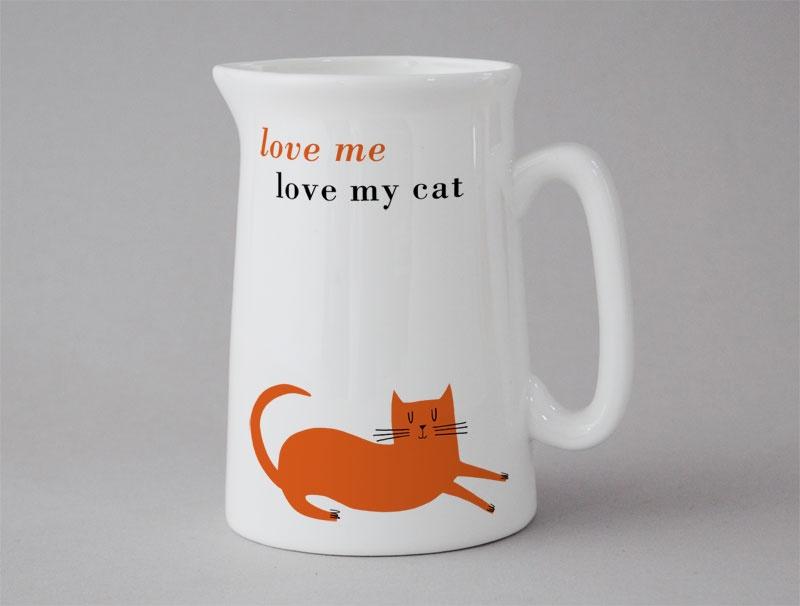 love me love my cat jug