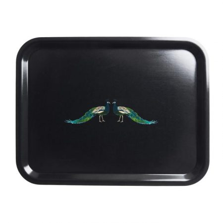 Sophie Allport peacock tray large
