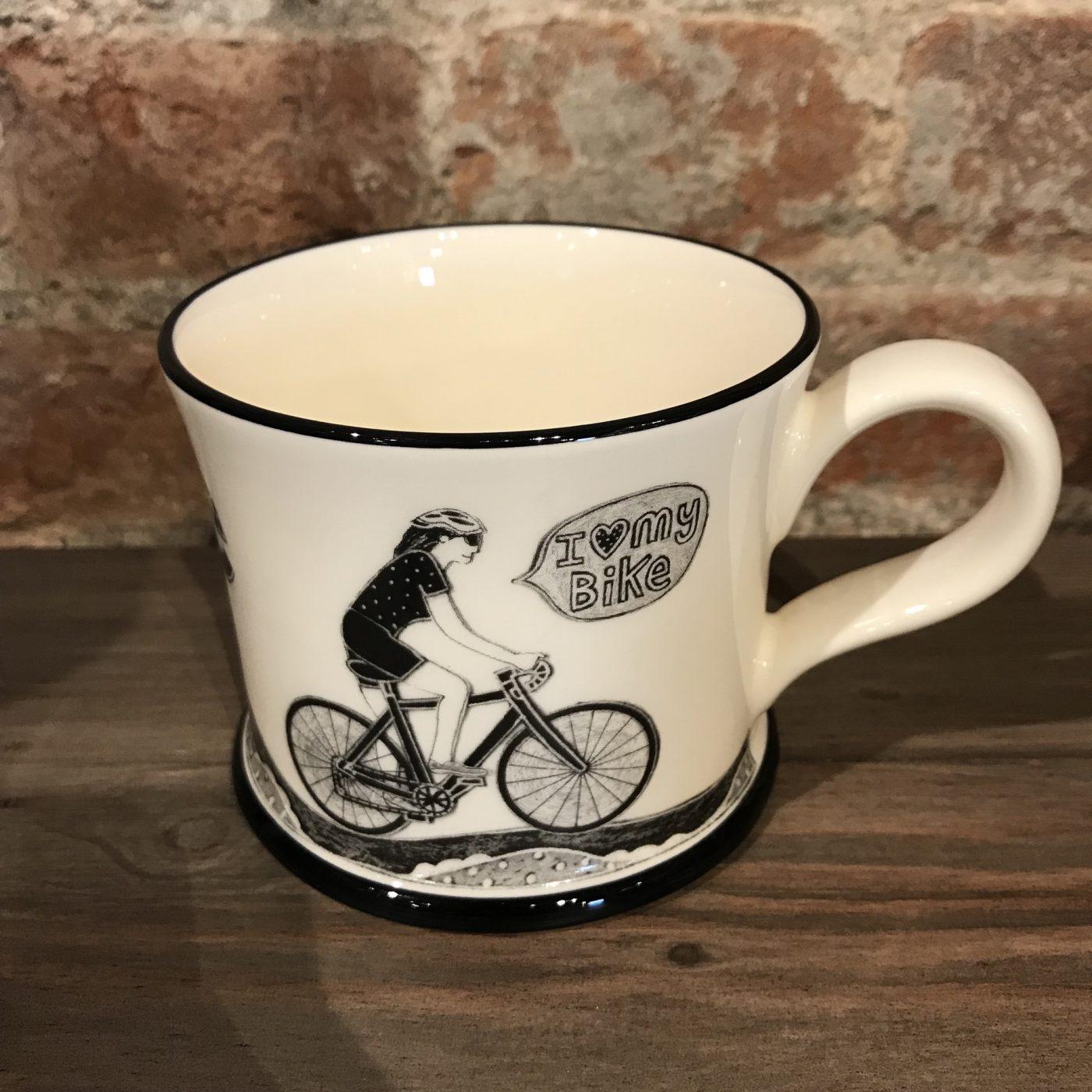 on yer bike girl mug