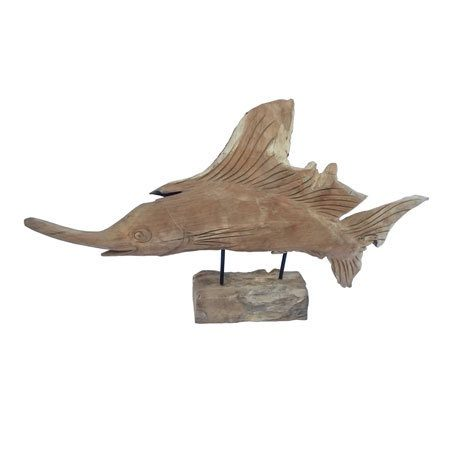 driftwood swordfish sculpture