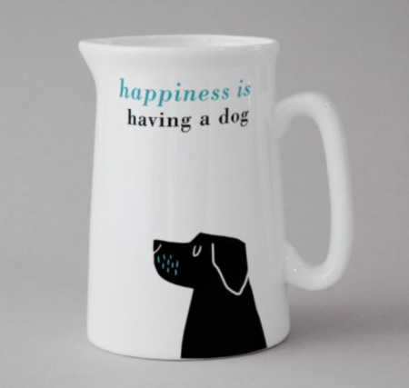 Happiness is having a dog black lab