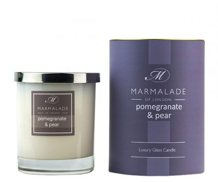 pom and pear candle in glass jar