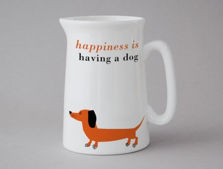happiness is having a dog jug