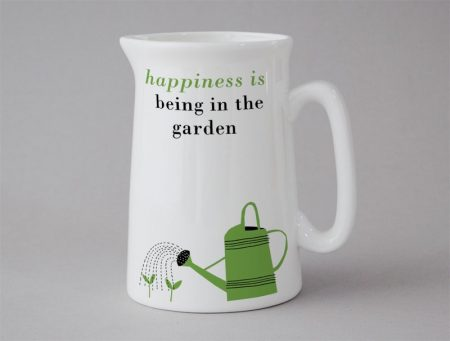 happiness is being in the garden jug