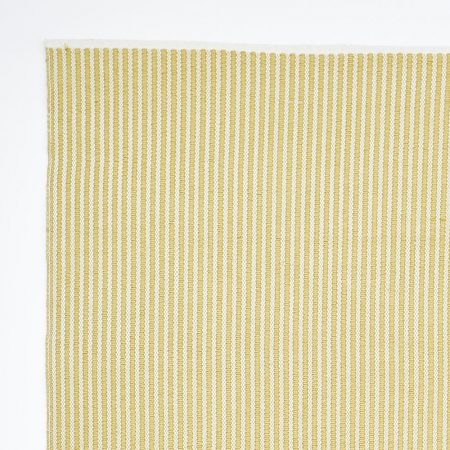 gooseberry coloured striped rug made from recycled bottles