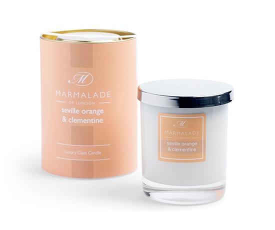 seville orange clementine candle in glass jar