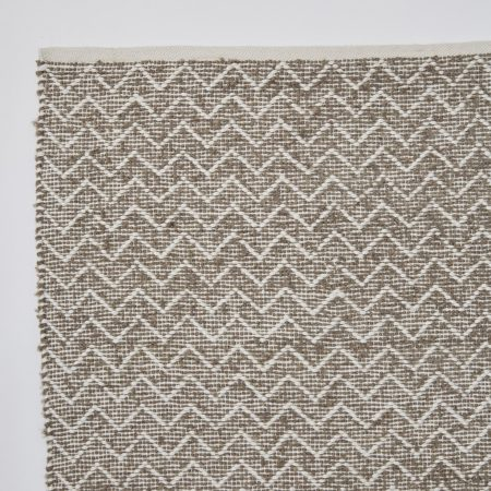 Chenille rug made from recycled bottles Monsoon colour