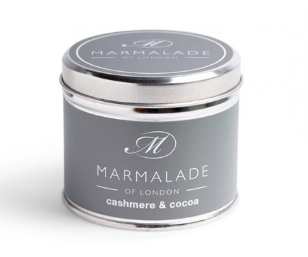 cashmere cocoa tinned candle