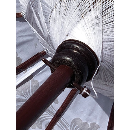 bali sun parasol white and gold woven canopy