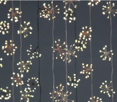 silver starburst string lights