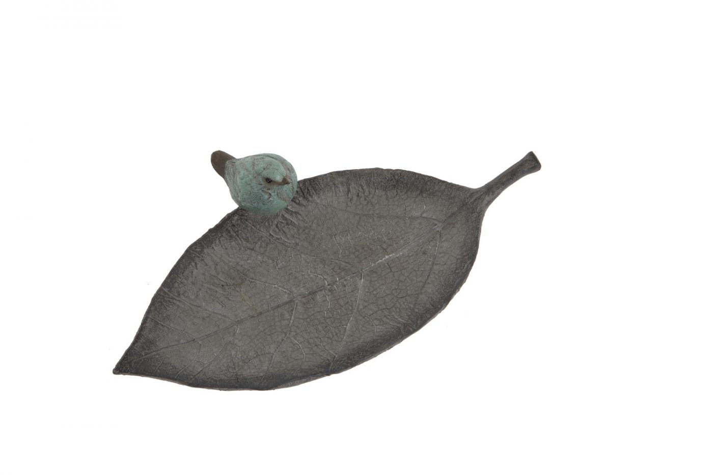 bird on a leaf birdfeeder