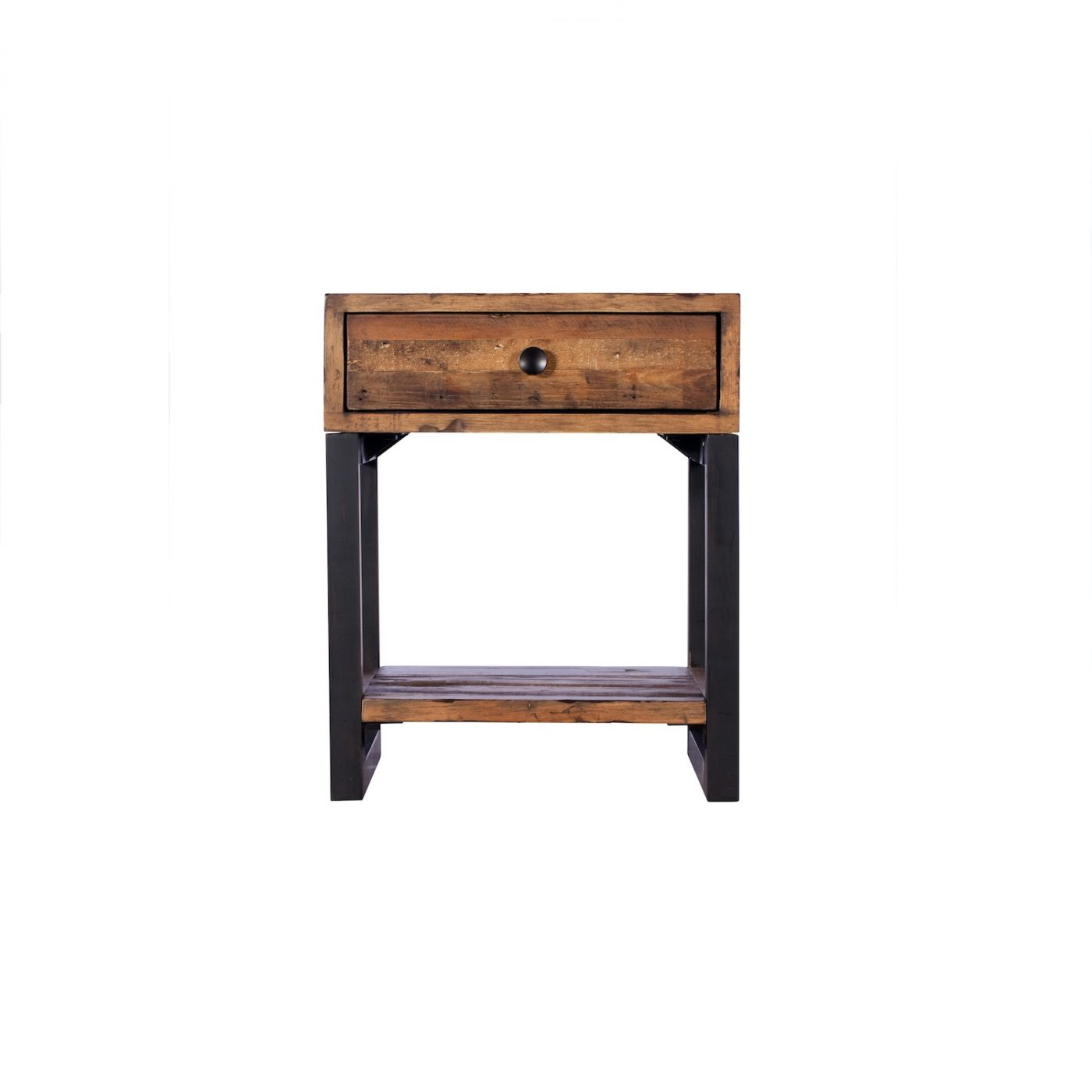 newland rustic wooden reclaimed wood lamp table