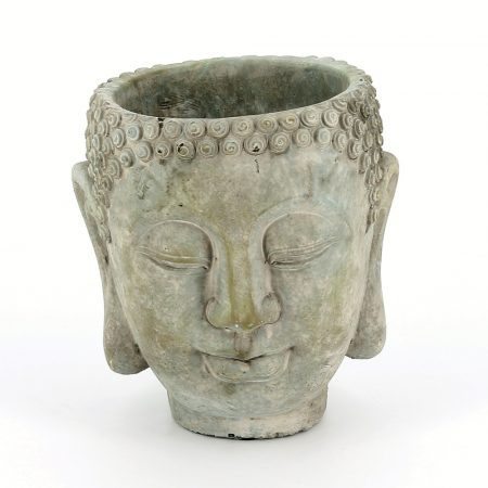 Large buddha head planter