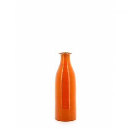 orange milk bottle vase large
