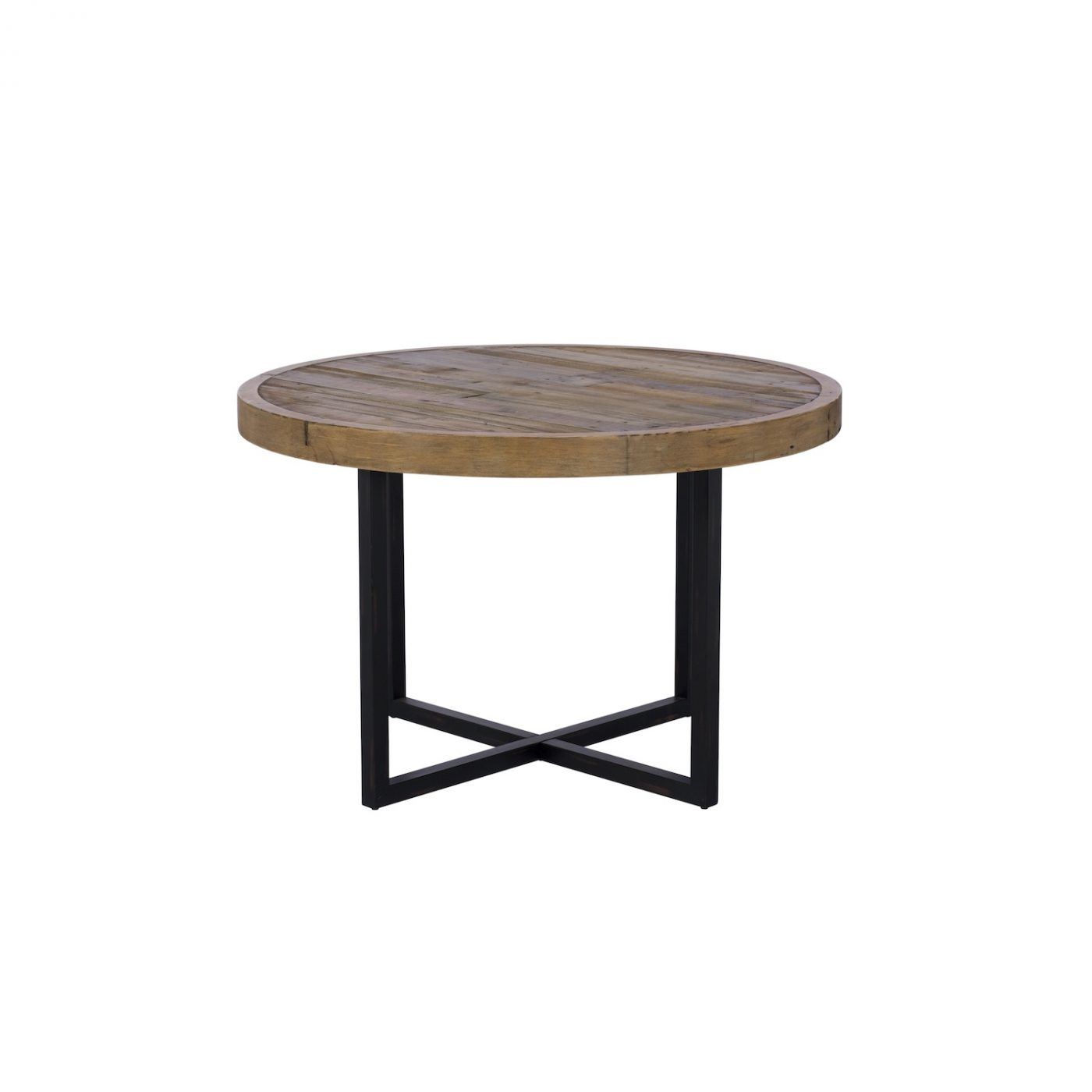 Newland round dining table reclaimed wood