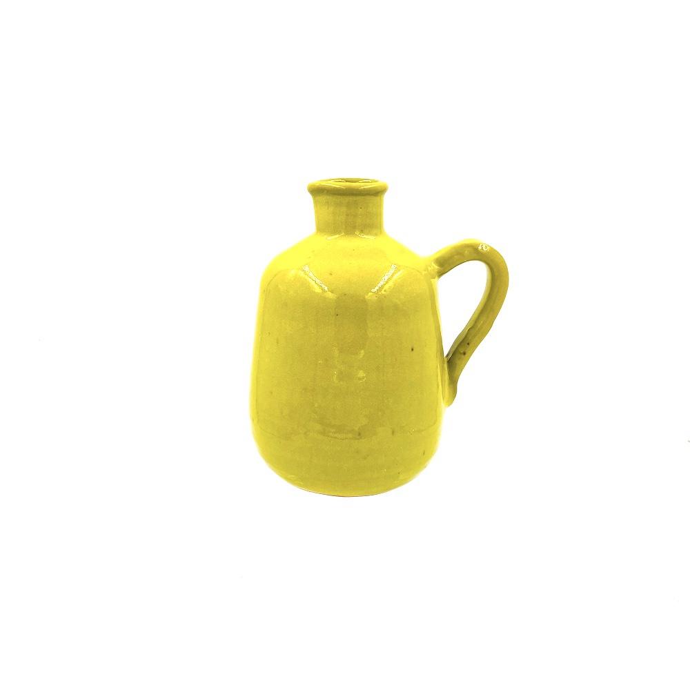 pitcher yellow glaze