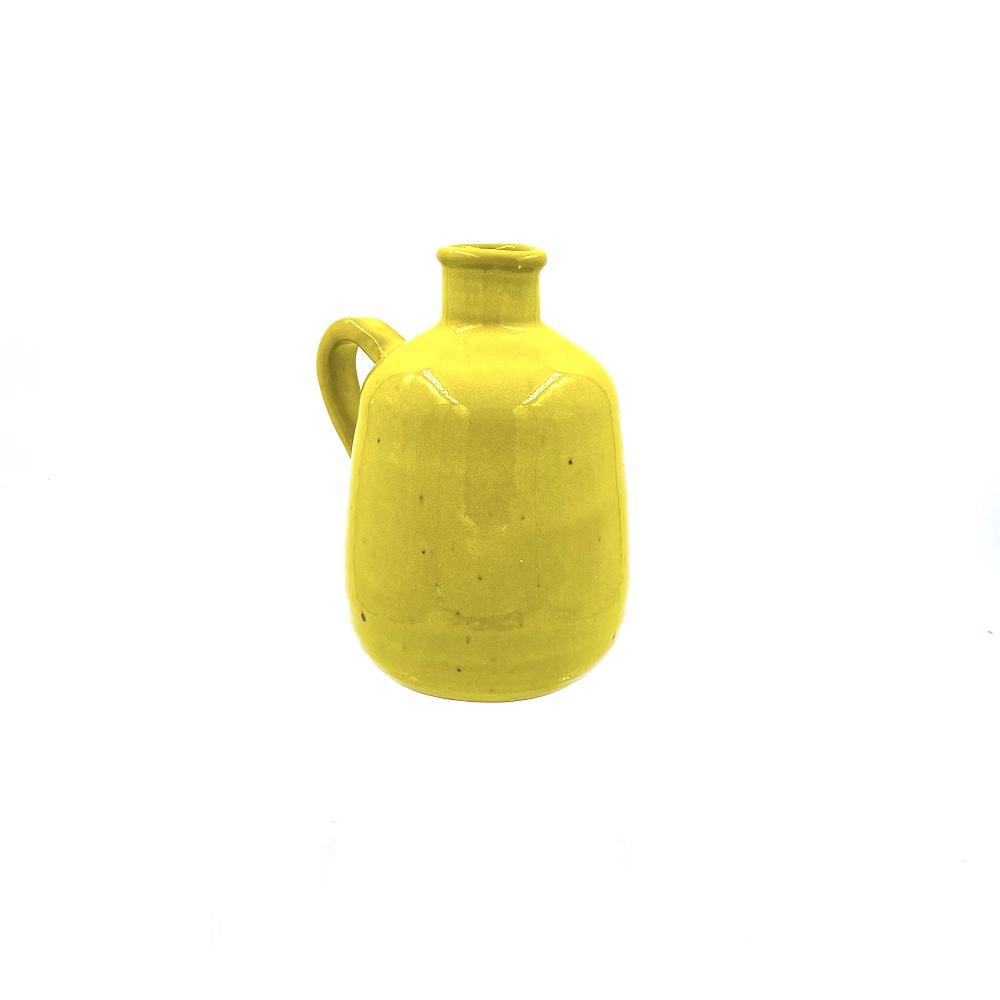 vivid yellow pitcher vase