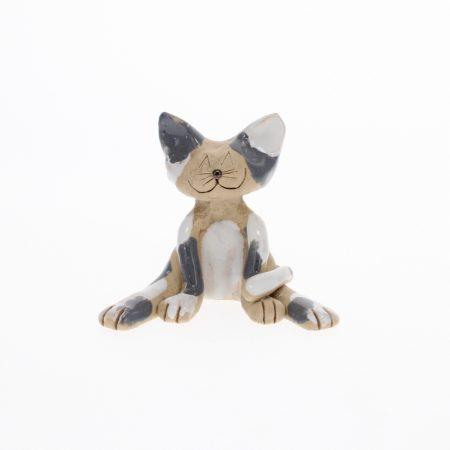 lazy grey cat ornament