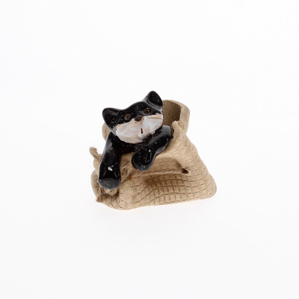 cat in a bag black