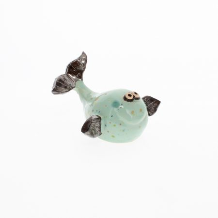 small ceramic whale mint