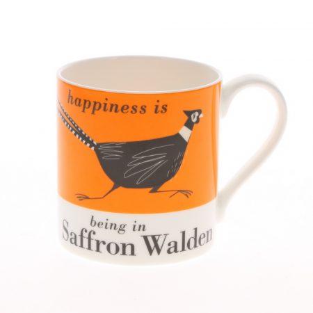 happiness is being in saffron walden mug