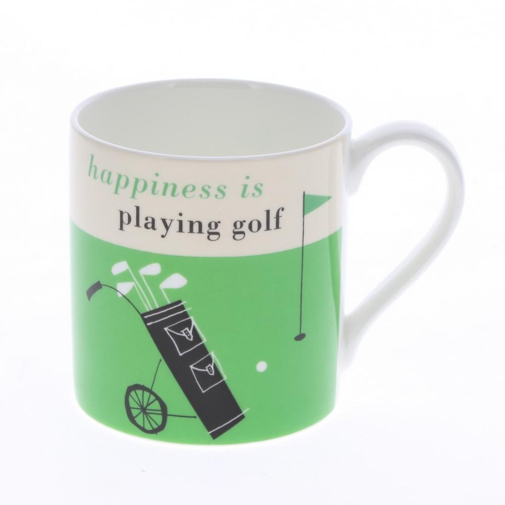 happiness is playing golf mug green