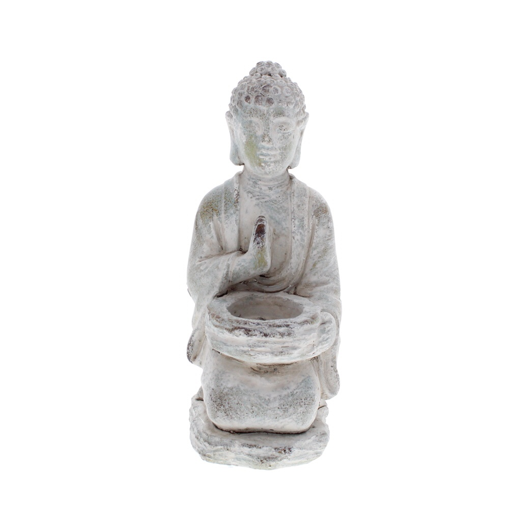 blessing Buddha stone tealight holder