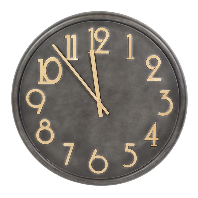giant black gold clock