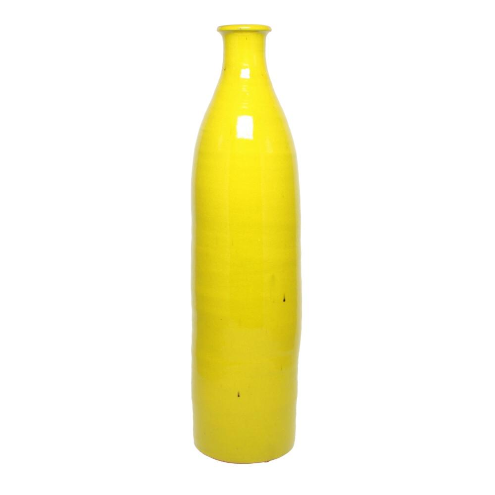 milk bottle vase bright yellow
