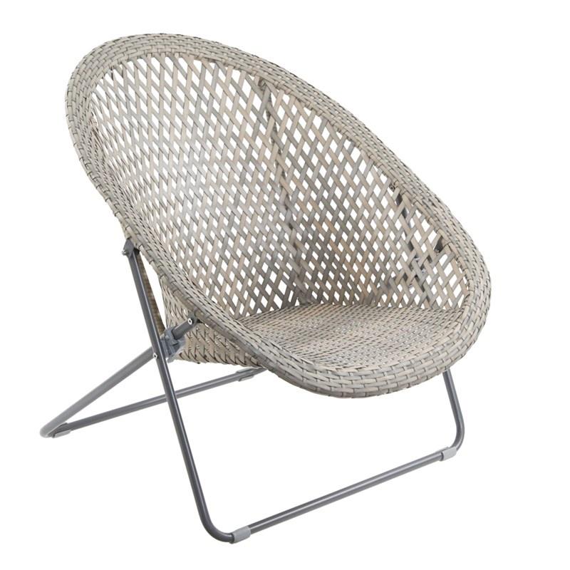 folding garden rattan chair