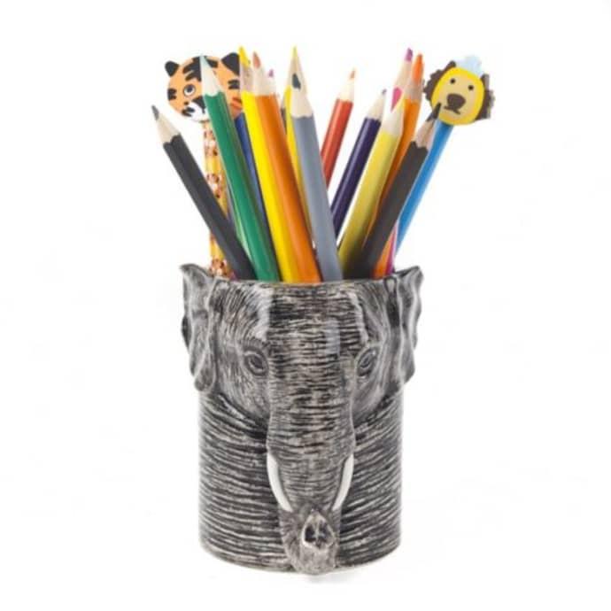 Elephant Pencil Pot with pencils