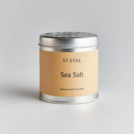 St Eval Sea Salt candle in tin