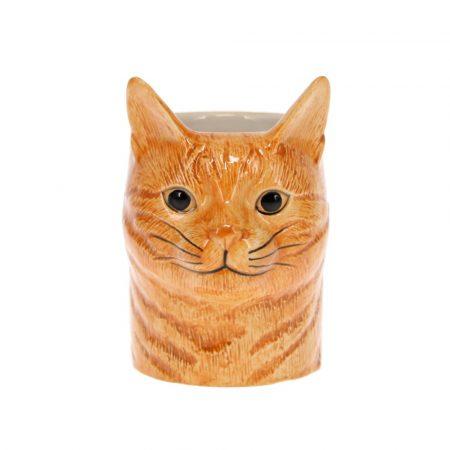 Ginger cat pencil pot