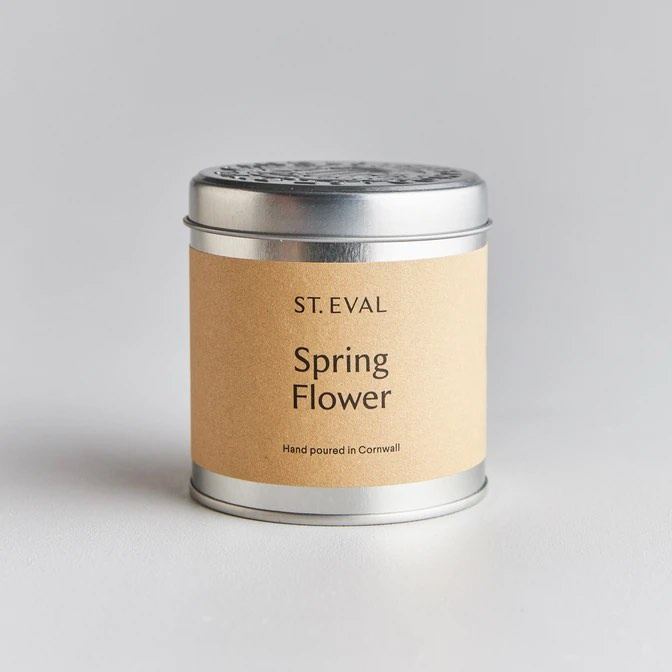St Eval Spring Flower candle in tin