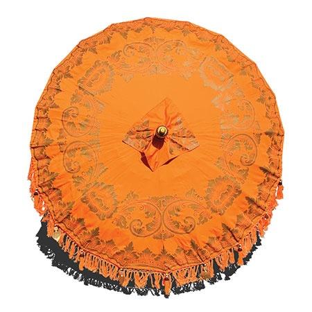 Bali sun parasol orange gold open