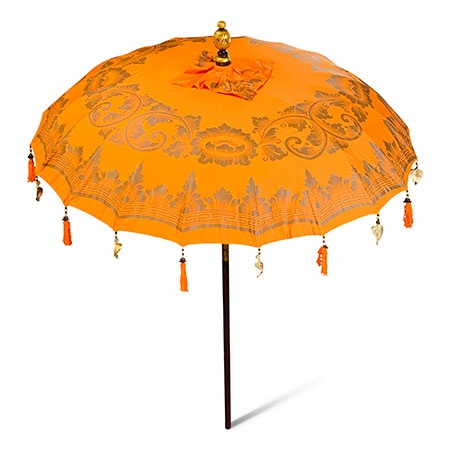 bali sun parasol orange and gold