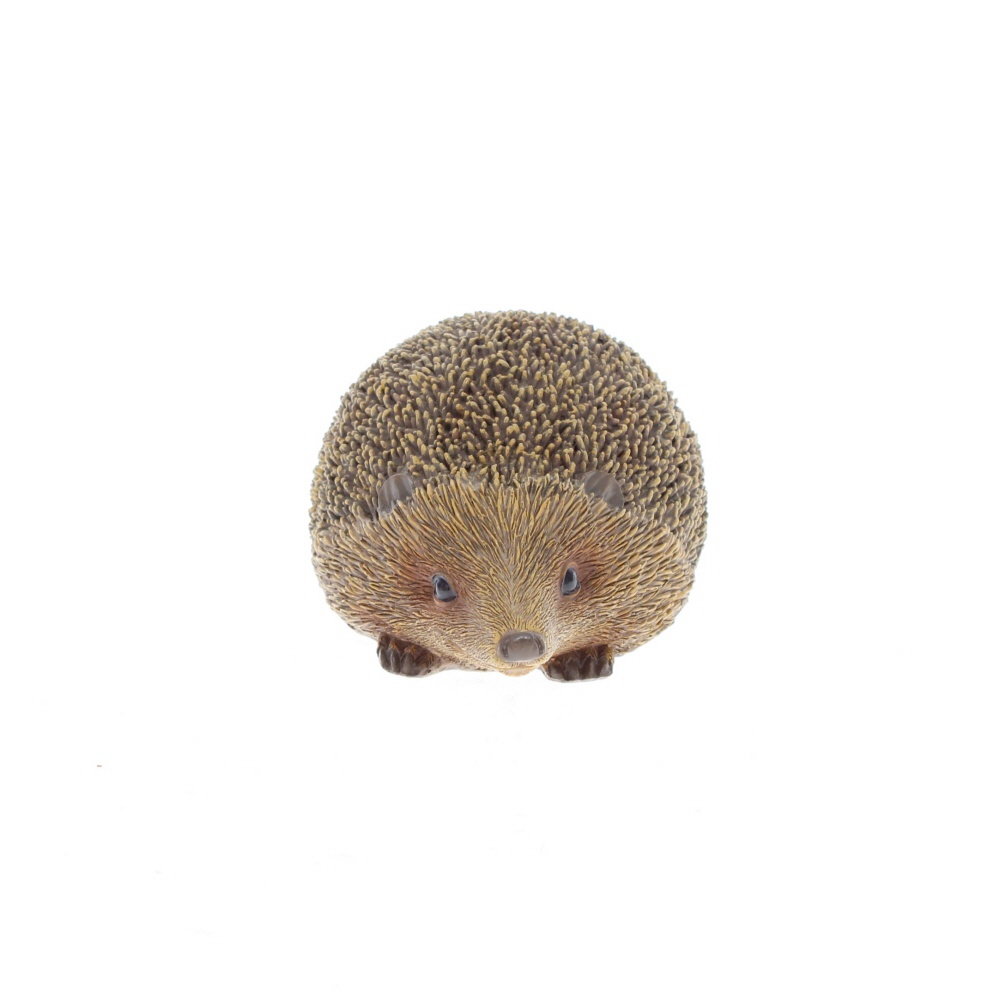 small wooden hedgehog face on