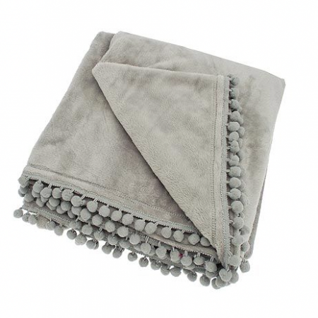 cashmere touch throw in grey