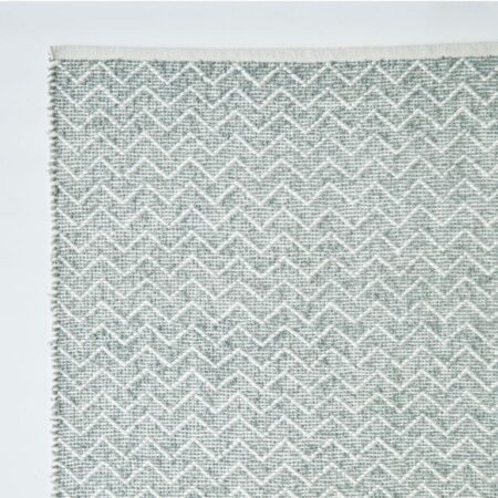 Chenille rug made from recycled bottles Dove Greycolour