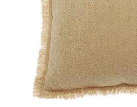 linen cotton cushion natural swatch
