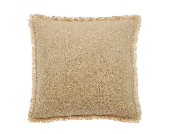 linen cotton cushion natural