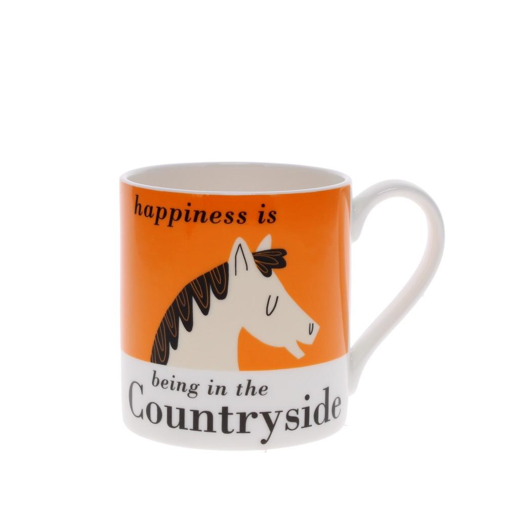 happiness is mug horse design