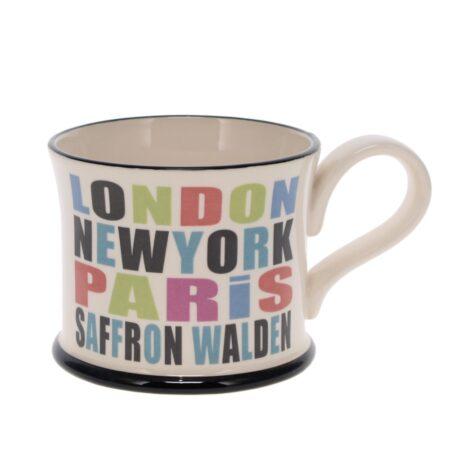 london new york paris saffron walden mug