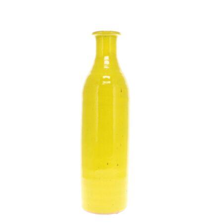 yellow extra large pottery milk bottle vase