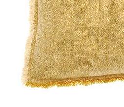 linen cotton cushion mustard swatch