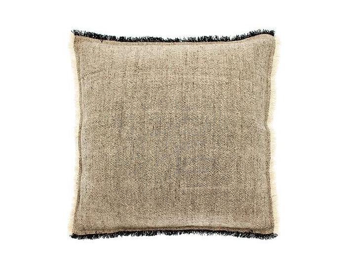 linen cotton cushion charcoal